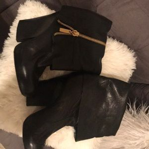 Dolce Vita Fold Over Leather Booties